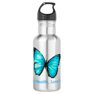 Love your health, Love Yourself butterfly 532 Ml Water Bottle