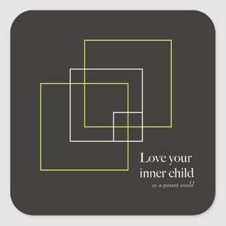 Love Your Inner Child Square Stickers - 6 Pack