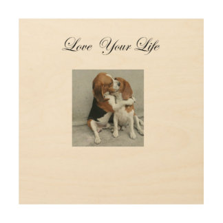 Love Your Life Beagle Wood Art