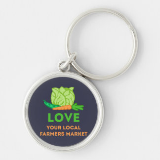 Love Your Local Farmers Market Key Ring