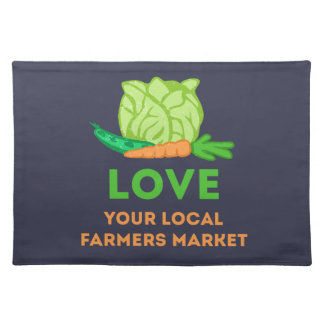 Love Your Local Farmers Market Placemat