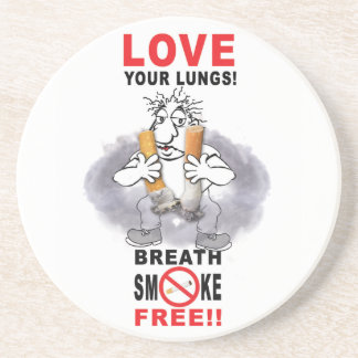 Love Your Lungs - Stop Smoking Coaster