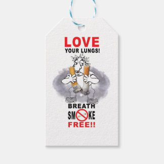 Love Your Lungs - Stop Smoking Gift Tags