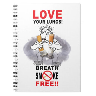 Love Your Lungs - Stop Smoking Notebooks