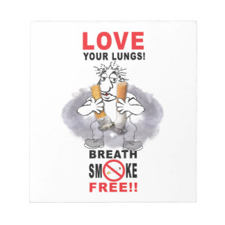 Love Your Lungs - Stop Smoking Notepad