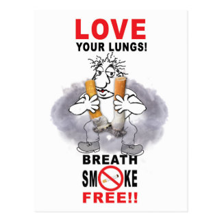 Love Your Lungs - Stop Smoking Postcard