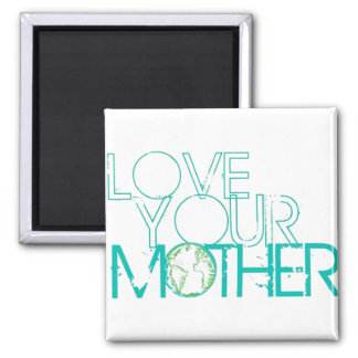 """Love Your Mother"" Earth Vintage Fridge Magnets"