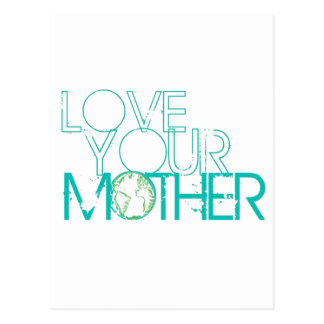 """Love Your Mother"" Earth Vintage Post Card"
