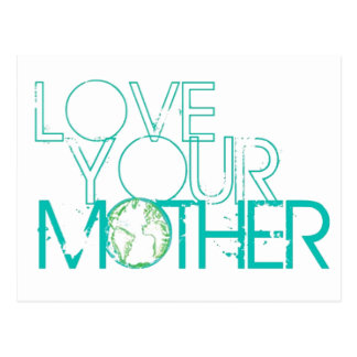 """Love Your Mother"" Earth Vintage Postcard"