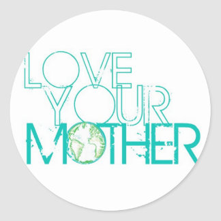 """Love Your Mother"" Earth Vintage Sticker"