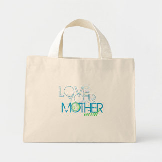 """""""Love Your Mother"""" Earth Vintage Mini Tote Bag"""