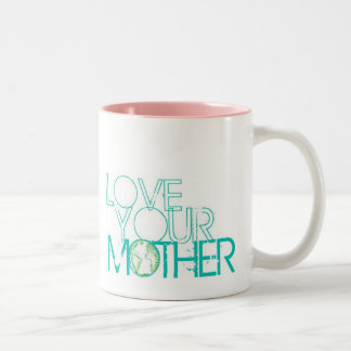 """Love Your Mother"" Earth Vintage Two-Tone Mug"