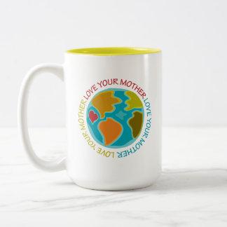 Love Your Mother Two-Tone Coffee Mug