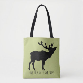 Love Your National Parks Elk Tote Bag