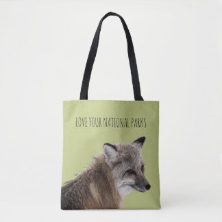 Love Your National Parks Fox Tote Bag
