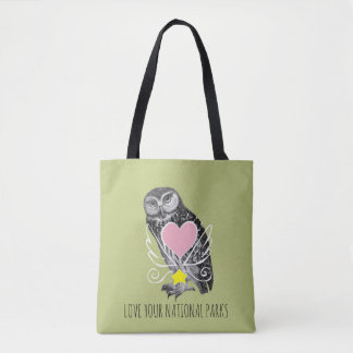 Love Your National Parks OWL Tote Bag