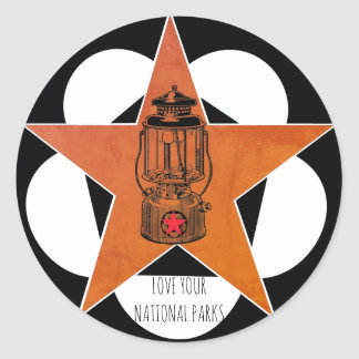 Love Your National Parks Vintage Lantern Stickers