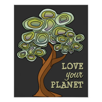 Love your Planet Eco Tree Poster