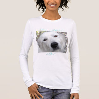 Love Your Pyr Great Pyrenees Teal Long Sleeve T-Shirt