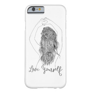 """Love Yourself"" - a girl making heart shape Barely There iPhone 6 Case"