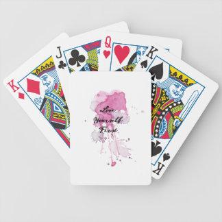 Love Yourself First Splatter Design Poker Deck