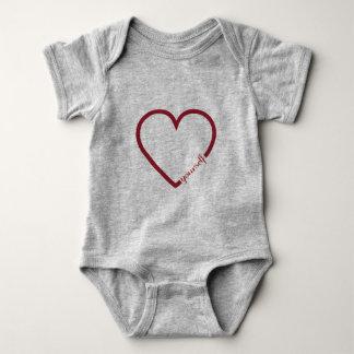Love yourself heart minimalistic design baby shirt