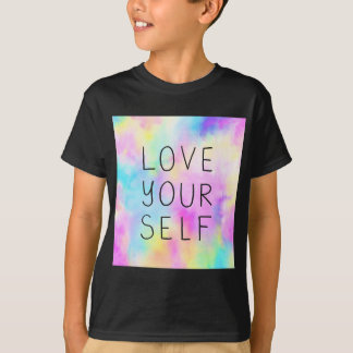 Love Yourself in Pastel Rainbow T-Shirt
