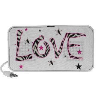 Love Zebra Print Speaker