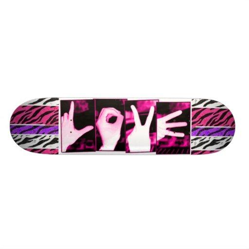 Love Zebra Skate Board Deck