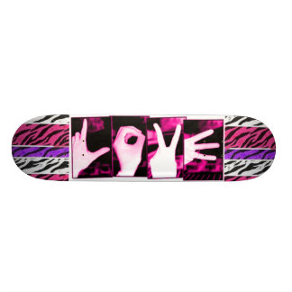 Love Zebra Skateboard Deck