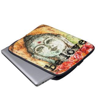 Love Zen Buddha Watercolor Art Laptop Sleeve