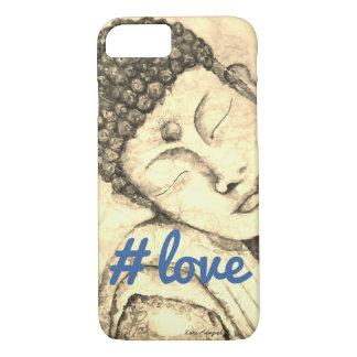 #love Zen Buddha Watercolor Art Phone Case