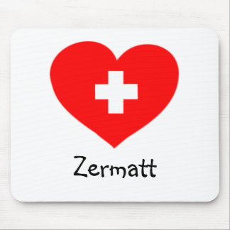 Love Zermatt - Swiss heart mousepad