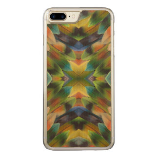 Lovebird feather kaleidoscope carved iPhone 8 plus/7 plus case