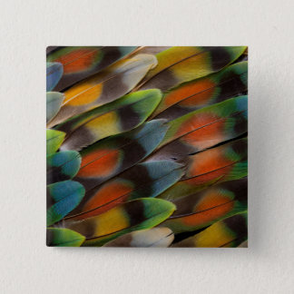 Lovebird Feather Pattern 15 Cm Square Badge