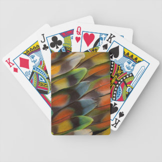 Lovebird Feather Pattern Bicycle Playing Cards