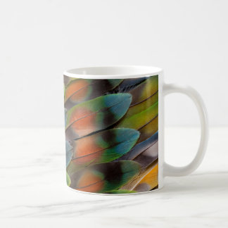 Lovebird Feather Pattern Coffee Mug