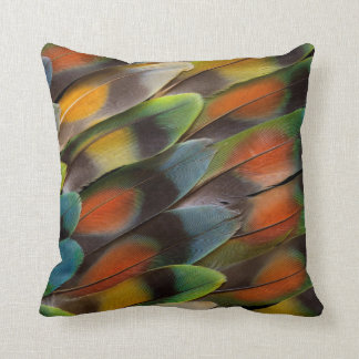 Lovebird Feather Pattern Cushion