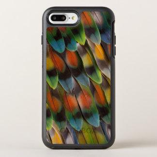 Lovebird Feather Pattern OtterBox Symmetry iPhone 8 Plus/7 Plus Case