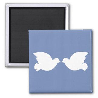 Lovebirds / 5.1 Cm Square Magnet