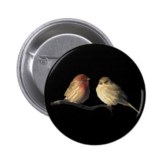 Lovebirds 6 Cm Round Badge
