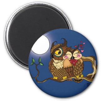 Lovebirds 6 Cm Round Magnet