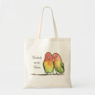 Lovebirds Are For Lovers Tote Budget Tote Bag