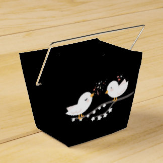 Lovebirds Blush White And Black Wedding Party Love Wedding Favour Box