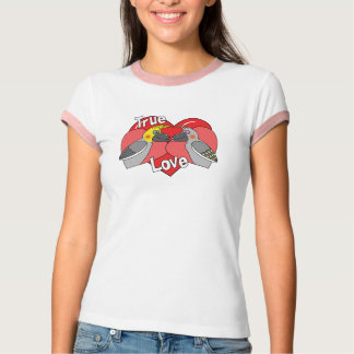 Lovebirds Cartoon Cockatiels Apparel T-Shirt