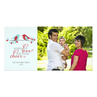 Lovebirds Christmas Photo Greeting Card
