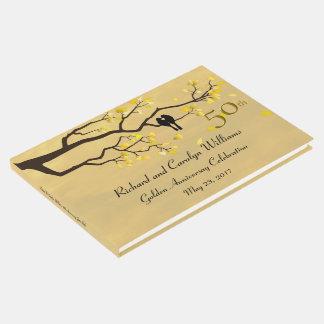 Lovebirds Golden Anniversary Guest Book