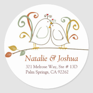 Lovebirds in the Fall Address Labels