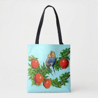 lovebirds or love birds or bird lovers tote bag