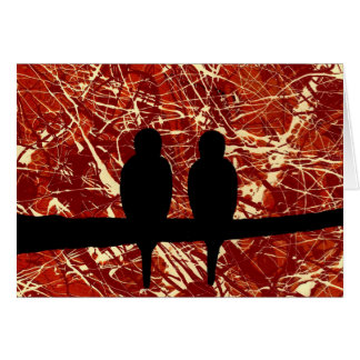 LOVEBIRDS - REMAINS OF THE DAY bird design Greeting Card